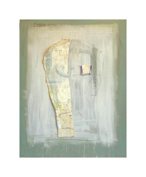 14.  LINO L'extrême douleur de ce qui reste 130 x 110 Huile et canevas sur bois, 2008 (propriété de Bernard Émond)