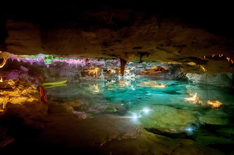 Underground cenote in Mayan Riviera, Mexico