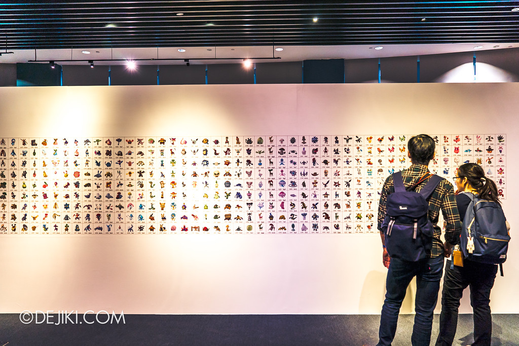 Pokémon Research Exhibition Launch -  Pokedex wall showing over 700 species and variants