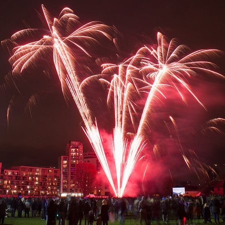 Tower Hamlets fireworks 2012