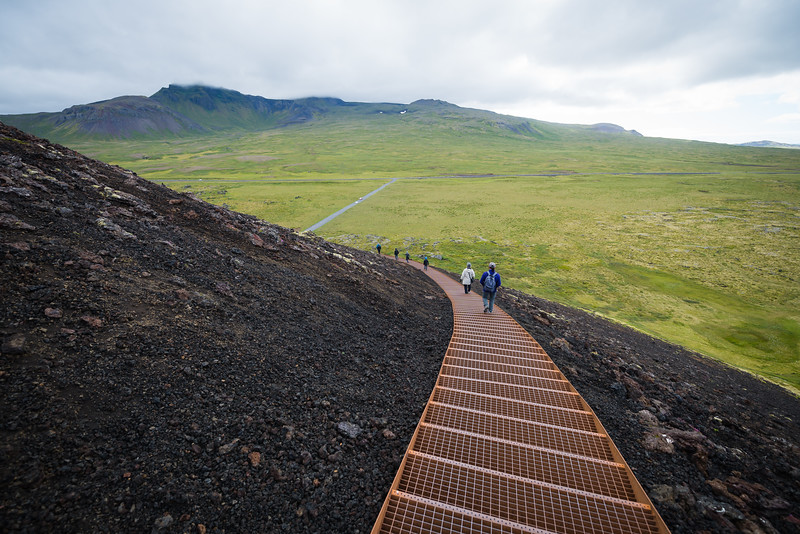 Easy access to the top of the volcano