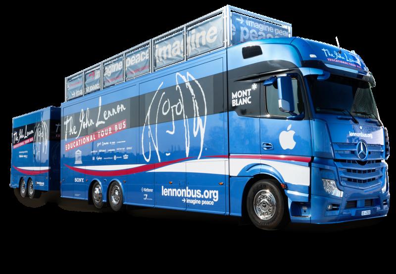 Lennon Bus Europe - Exterior Silhouette