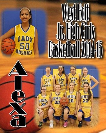 JH Girls Basketball Collages