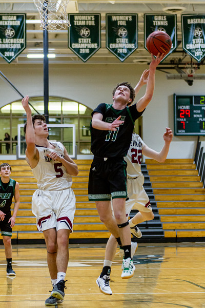 Holy Family's Gavin Lund '21 (11) vs. New Prague - Collin Nawrocki/The Phoenix