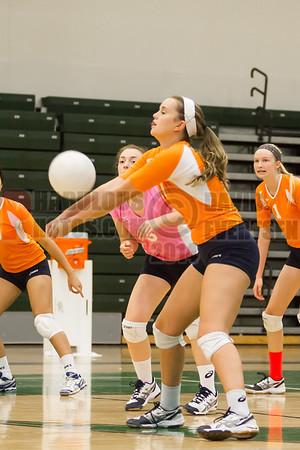 Boone Braves @ Oak Ridge Pioneers Girls Varsity Volleyball - 2014