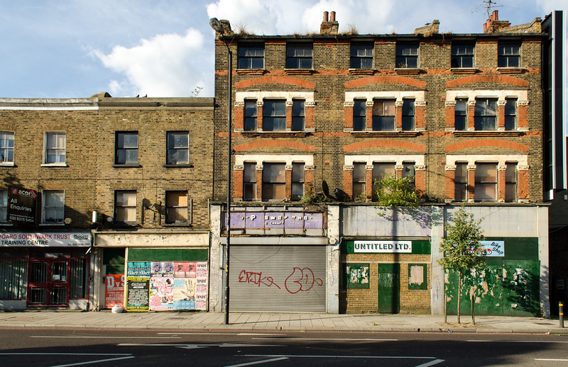 Decaying buildings on the Old Kent Road
