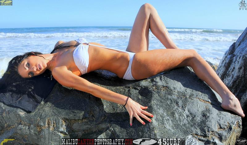 beautiful woman sunset beach swimsuit model 45surf 854.090...