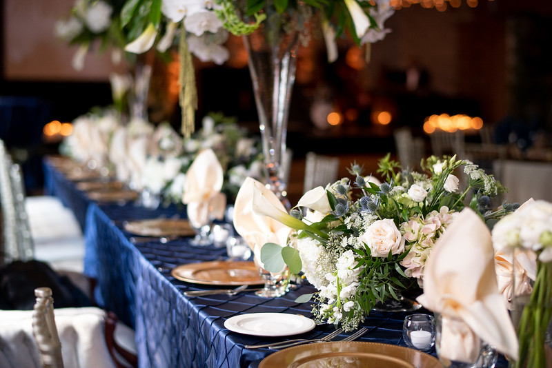 Wedding Party Table Settings