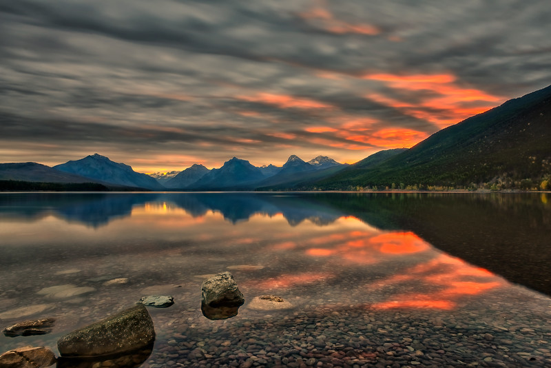 Morning at McDonald Lake