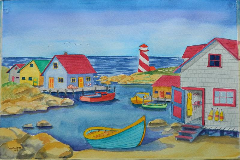 Nova Scotia Harbor, watercolor, 15x22. july 28, 2012. DSCN1357.JPG