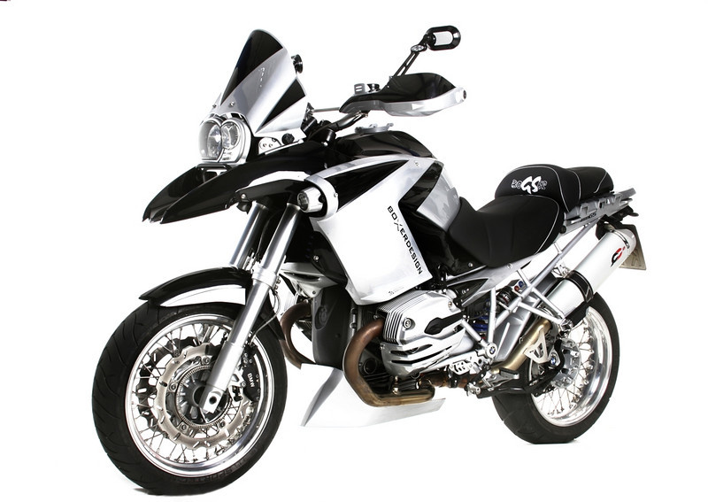 """Boxer_Design's latest modified BMW R1200GS with the """"Teno"""" range of body panels, trim panels and accessories."""