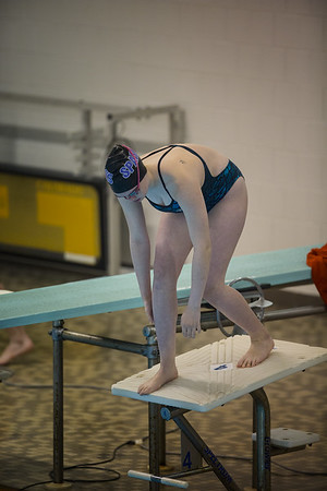 Girls' swimming and diving