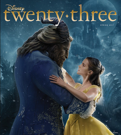 Disney Twenty-Three magazine spring issue to showcase the stunning new adaption of Beauty and the Beast