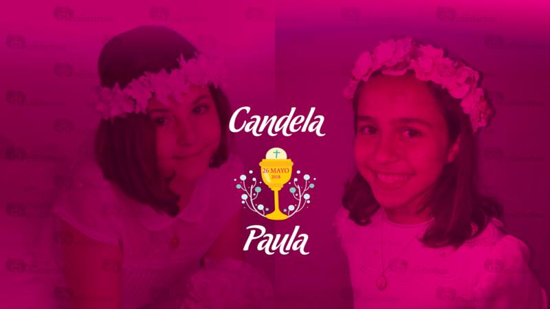 Comunión Paula y Candela - 26 de mayo