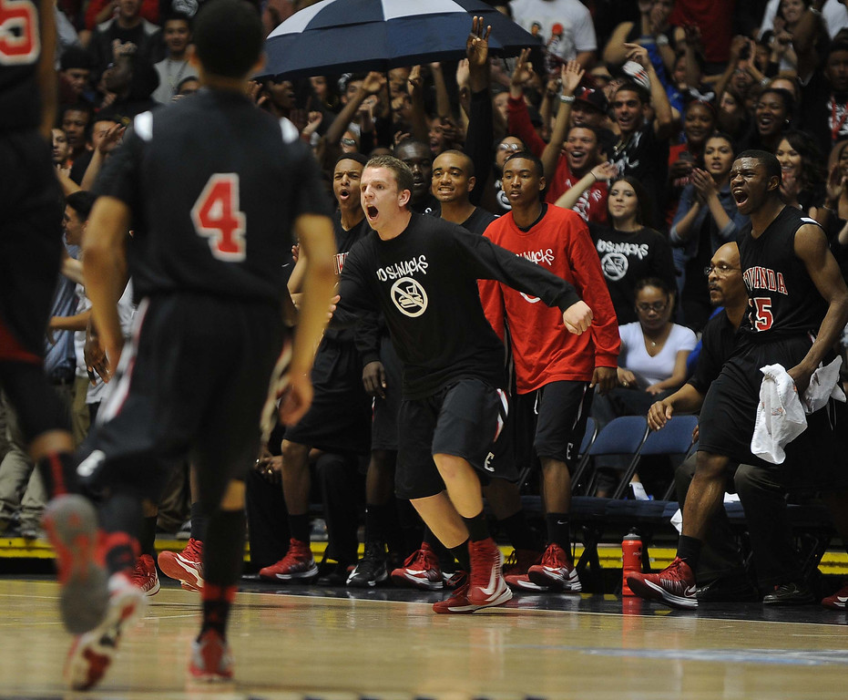 . Etiwanda High School beat Mater Dei High School Saturday night March 2, 2013 during the CIF Ford Southern Section Boy\'s Division 1AA Final Championship at the Anaheim Convention Center in Anaheim.LaFonzo Carter/ Staff Photographer