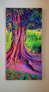 Example of 16x32 print on canvas - unframed