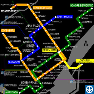 Montreal Metro and Quebec trains