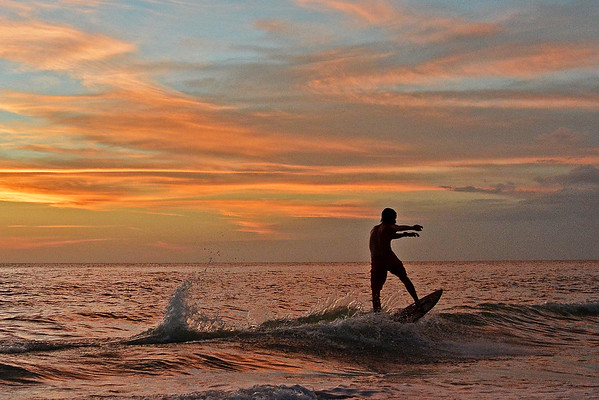 Sunset Surfer at Marco