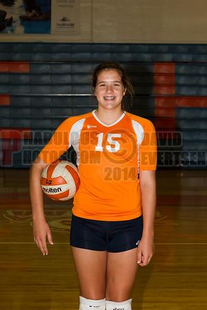 Girls JV Volleyball #15 - 2014