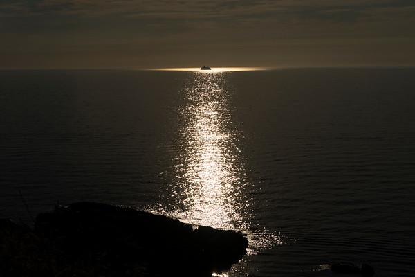 Sunset at sea - summer 2015
