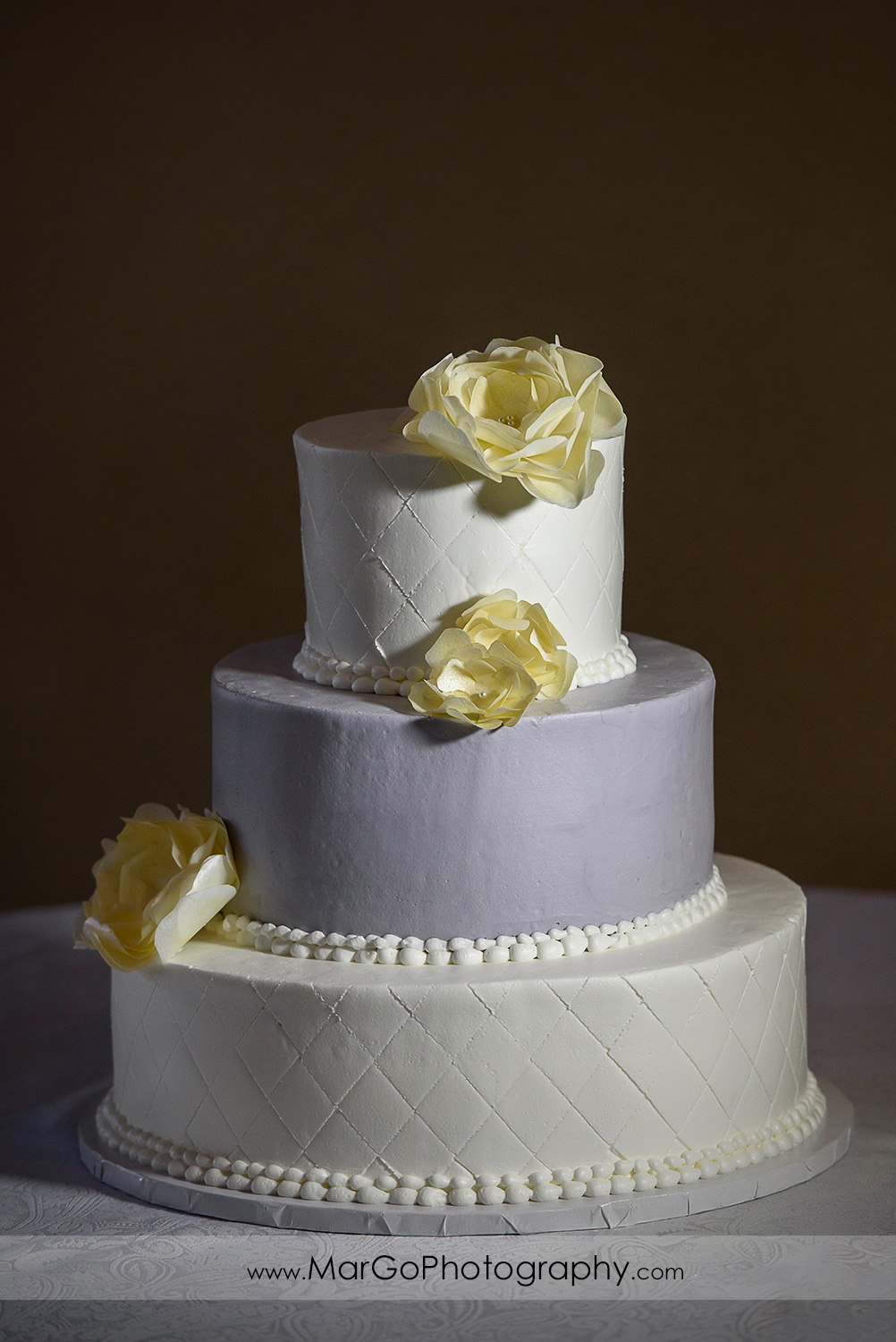 wedding cake at the Club at Ruby Hill in Pleasanton