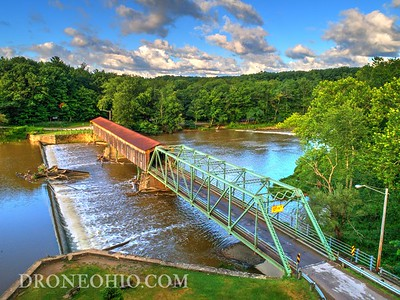 HARPERSFIELD COVERED BRIDGE, ASHTABULA COUNTY, OHIO