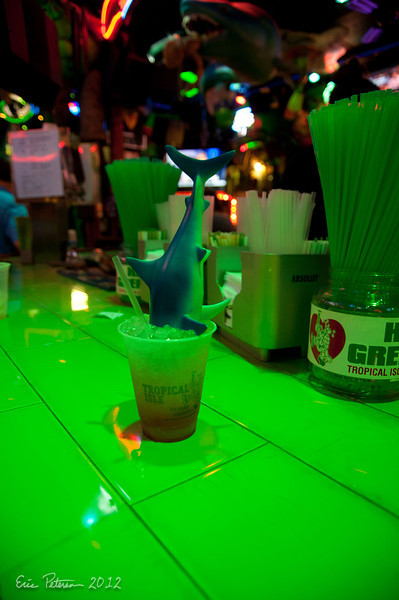 Jennifer Mills had to get one of these drinks.  Something about the shark.