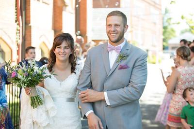 Ceremony Receiving Line- Christen & Jacob Manuele New England Rustic Wedding Photography- Westfield MA The Ranch Golf Club, St. Mary's Catholic Church- Bridal Photo Studio