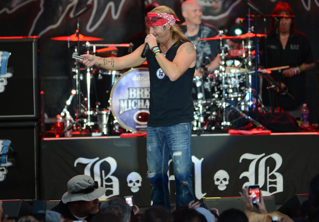 . Long Beach, Calif., -- 04-20-13-  Singer Bret Michaels performs  Saturday during the 39 Annual Toyota Grand Prix of Long Beach.   Stephen Carr/  Los Angeles Newspaper Group