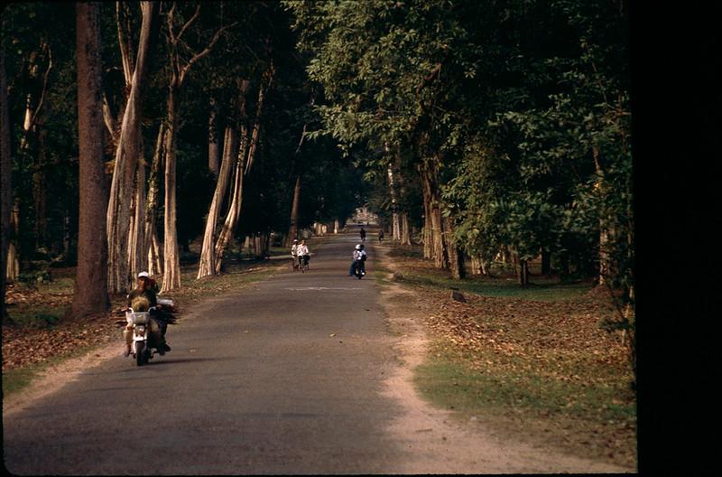 road in Siem Reap, Cambodia