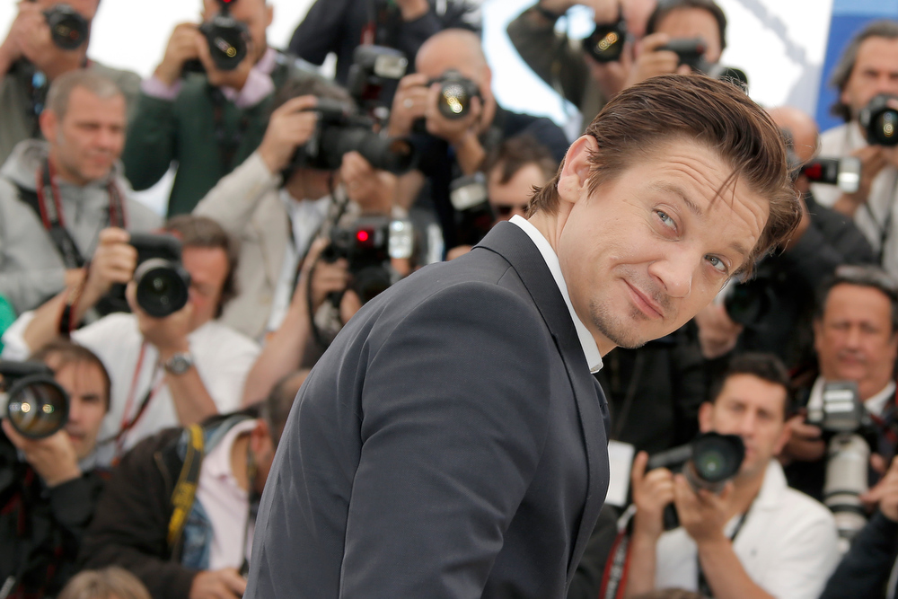 . Actor Jeremy Renner poses for photographers during a photo call for the film The Immigrant at the 66th international film festival, in Cannes, southern France, Friday, May 24, 2013. (AP Photo/Francois Mori)
