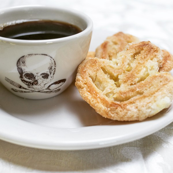 Coffee and lemon palmiers