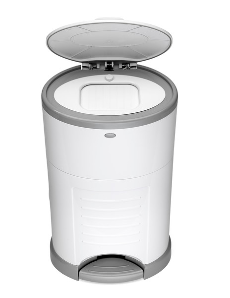 Korbell_Nappy_Bin_Product_Shot_Standard_16L_Pure_White_Front_Angle_Lid_Open.jpg