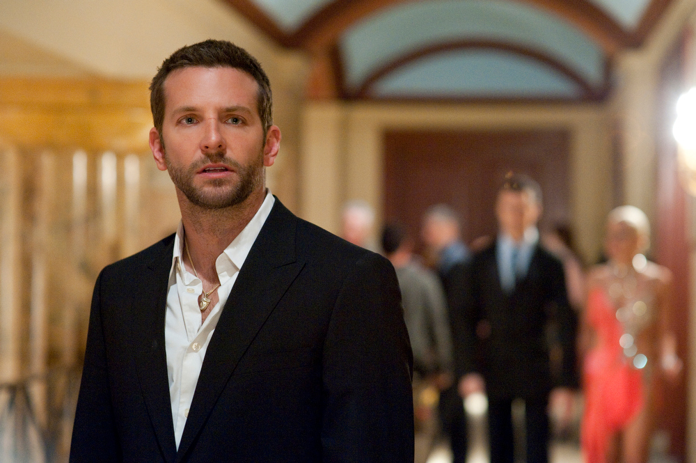 Description of . This publicity film image released by The Weinstein Company shows Bradley Cooper in