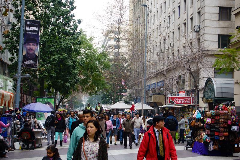 Pedestrian avenue - lots of people!