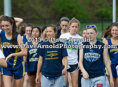 5/7/2013 - Girls Varsity Track & Field - Framingham vs Needham