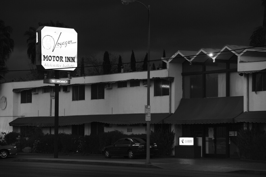 . The Voyager Motor Inn on Sepulveda Blvd. is on a long list of motels that the LAPD has received complaints from neighbors concerned about prostitution in their neighborhood. North Hills, CA. 3/27/2014(Photo by John McCoy / Los Angeles Daily News)