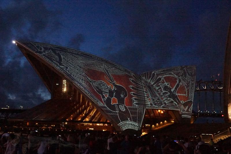 Aboriginal Paintings Project onto SOH
