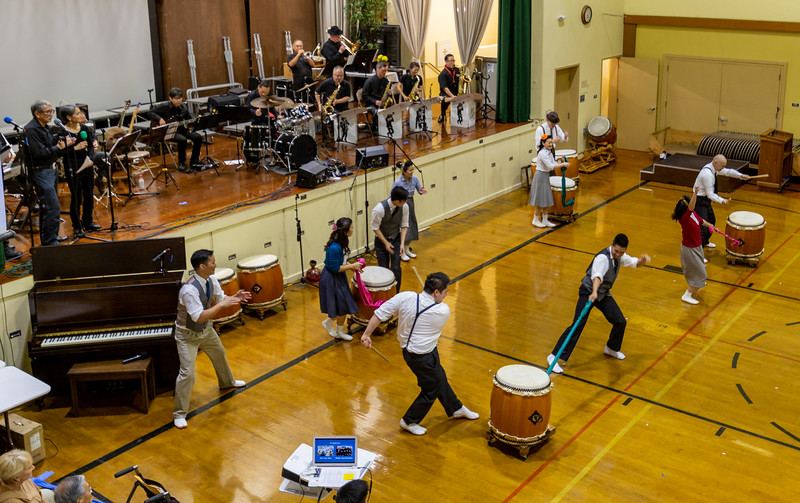 """SJ Taiko and Wesley Jazz Ensemble present """"Swingposium"""", about the role of music in surviving the WWII internment camps."""