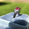 1.71ctw Ruby and Diamond Trilogy Ring 11