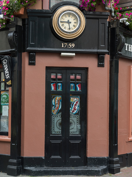 Clock on the wall of a bar, Galway City, County Galway, Ireland