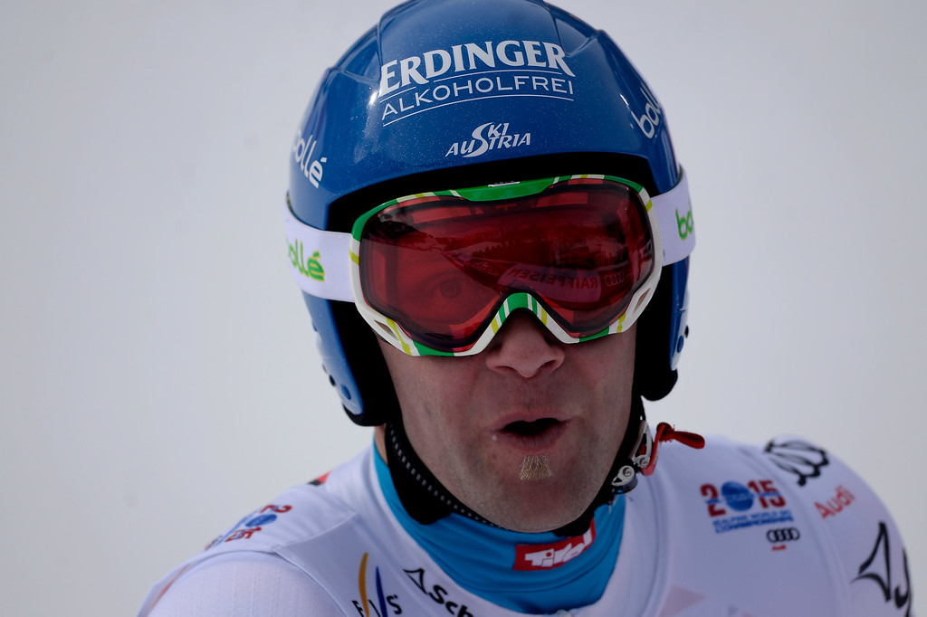 . BEAVER CREEK, CO - FEBRUARY 03: Romed Baumann of Austria competes during the the men\'s downhill training. FIS Alpine World Ski Championships 2015 on Tuesday, February 3, 2015. (Photo by AAron Ontiveroz/The Denver Post)