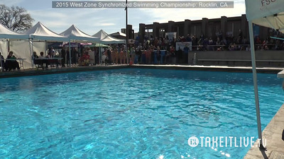 E14 - 13-15 Free Team - 2015 Western Zone Synchronized Swimming Championships - Livesynchro Powered by: Takeitlive.tv
