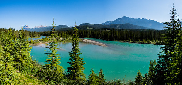 Rocky Mountain view, Alberta, Canada