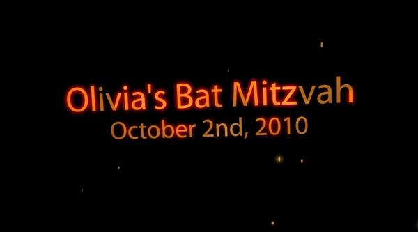 Olivia's Bat Mitzvah Montage