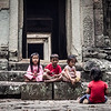 Children at Thommanon, Angkor, Cambodia
