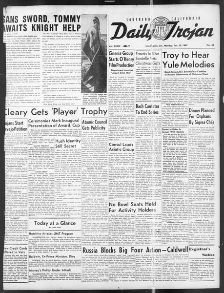 Daily Trojan, Vol. 39, No. 63, December 15, 1947