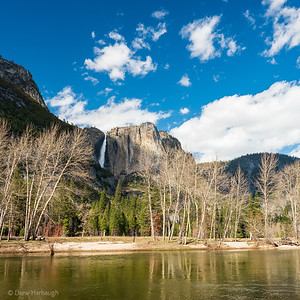 Yosemite Falls in Afternoon Shadow