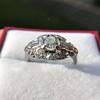 1.18ctw Art Deco Princess Halo Ring 25