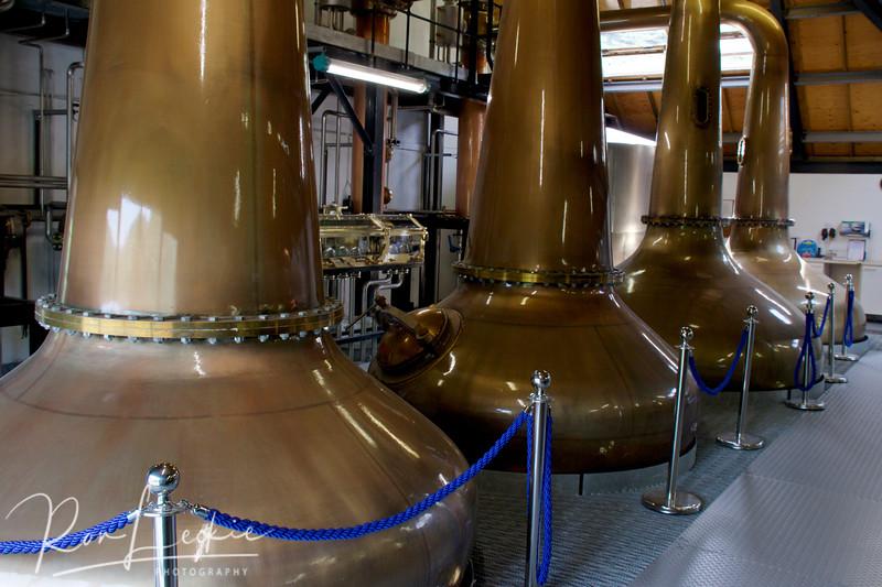 Isle of Arran, Lochranza Distillery: The Pot Stills